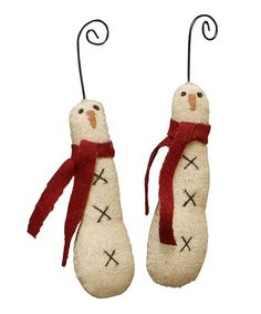 Take a look at this Skinny Snowman Ornament - Set of Six by Primitives by Kathy on #zulily today!