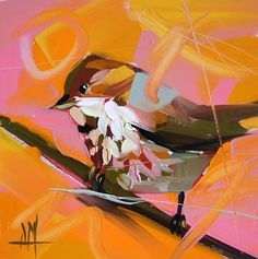 Song Sparrow Bird Art Print by Angela Moulton