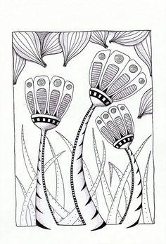 Zentangle plants