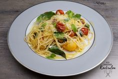 Mein wunderbarer Kochsalon Pasta, Spaghetti, Dinner, Ethnic Recipes, Food, Ideas, Breakfast Snacks, Tomatoes, Summer