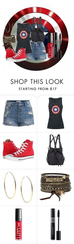 """""""Captain America Civil War"""" by zoeholmquist on Polyvore featuring Pieces, Converse, Opening Ceremony, Michael Kors, BKE and Christian Dior"""
