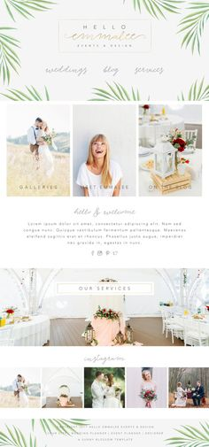 Wix Website Template wedding planner by SunnyBlossomDesigns