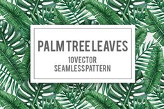 Palm tree leaves seamless pattern by Karina Cornelius on @creativemarket