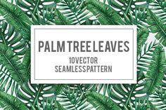 Palm tree leaves seamless pattern by Karina Cornelius