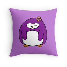 Purple Flower Penguin