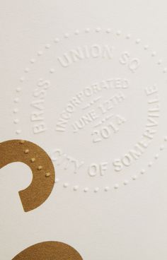 Finding the Paper: Brass Union Business Stationery, Business Cards, and Menus / Parse & Parcel for Oh So Beautiful Paper Design Logo, Badge Design, Graphic Design Typography, Tool Design, Print Design, Branding Design, Luxury Branding, Layout Design, Design Design