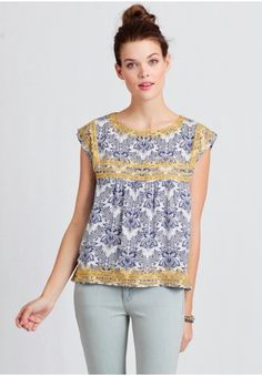 Daytime Adventure Embroidered Top