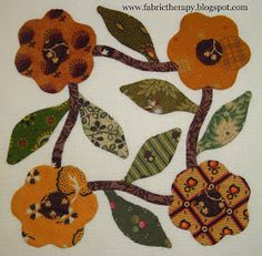 """I have managed to finish 8 more little hand applique blocks from Lori Smith's pattern, """"Miss Emilie's Garden. Hand Applique, Hand Embroidery Patterns, Wool Applique, Applique Patterns, Applique Quilts, Applique Designs, Quilting Designs, Quilt Patterns, Applique Tutorial"""