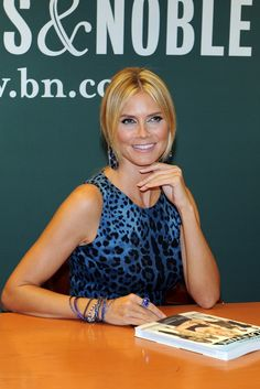 "Heidi Klum signed copies of her ""Project Runway: The Show That Changed Fashion,"" book at a midtown Barnes & Noble."