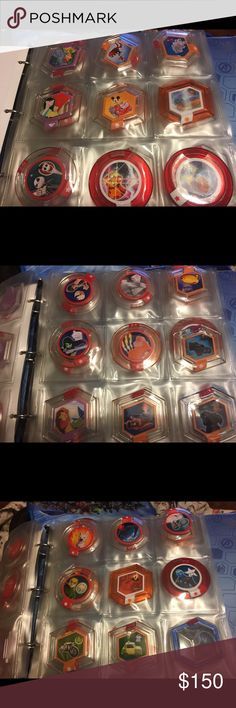 72 Disney infinity power discs⚡️flash sale⚡️ 72 Disney infinity power discs. Some rare. Some I paid $5-$10 a piece for off eBay. This is the entire lot, cases included Disney Other
