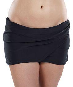Black Strong Support Swim Skirt