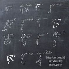 Items similar to Chalk Laurels & Vine Doodle Borders and Frames w/ BONUS Chalkboard Digital Paper for card making, printing, scrapbooking, clip art, ClipArt on Etsy Ideas Scrapbook, Scrapbooking Layouts, Scrapbook Quotes, Scrapbook Journal, Scrapbook Albums, Scrapbook Letters, Friend Scrapbook, Scrapbook Blog, Photo Album Scrapbooking