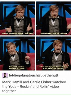 I think Mark Hamill's my spirit animal...