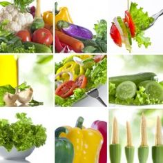 green healthy food collage