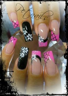french nails for wedding Colour French Nail Art, French Nail Designs, Pink Nail Designs, French Tip Nails, Beautiful Nail Designs, Beautiful Nail Art, Acrylic Nail Designs, Fabulous Nails, Gorgeous Nails