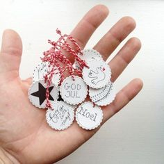 Shrink plastic. Handmade christmas ornaments/gift tags