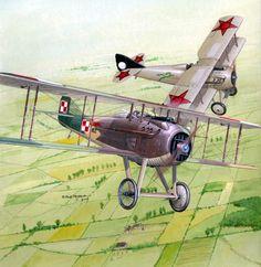 Polish Spad VII vs Soviet Spad VII. Polish-Soviet War 1919-1920. | ^ 444,50´,... F (hist) !! + https://de.pinterest.com/marcoabal/russo-polish-war/