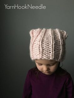 Knitted Kitty Cat Hat kitty Hat Cat Hat Cat Ear Hat