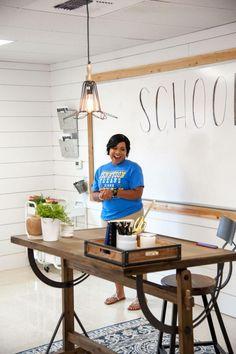 See This Fixer Upper Classroom Makeover | HGTV >> http://www.hgtv.com/design-blog/shows/fixer-upper-classroom-makeover?soc=pinterest