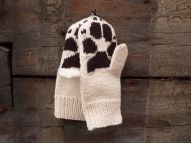 knitted paw mitts