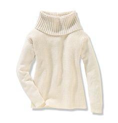 Women Tops Waffle And Jersey Knit Sweater Joe Fresh $29