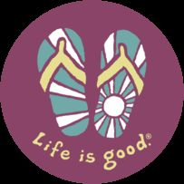 Sunshine Flip Flop Sticker Life Is Good, Sunshine, Good Things, Stickers, Life Is Beautiful, Nikko, Decals