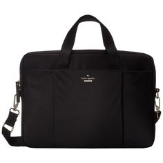 Kate Spade New York Classic Nylon Laptop Case 15 (Black) Computer Bags ($151) ❤…