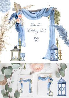 Blue Wedding, Diy Wedding, Wedding Aisles, Wedding Ceremonies, Wedding Color Schemes, Wedding Colors, Photo Png, Decoration Evenementielle, Grass Flower