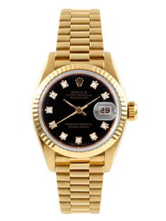 Rolex Presidential Oyster Perpetual Datejust Gold & Diamond Watch, 26mm