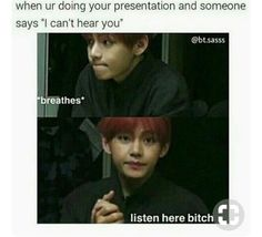 Bts Memes because k pop is a thing now – Page 6 of 6 – LOL WHY The Effective Pictures We Offer You About Bts Memes 2019 A quality picture can tell you many things. You can find the most beautiful pictures that can be presented to you about Bts[. Bts E Got7, Bts Taehyung, Bts Bangtan Boy, Jimin, K Pop, Memes Humor, Wattpad, Nct, Jokes