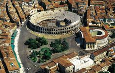 Instead of Visiting The Colosseum in Rome, Go Here... Arena di Verona... and see an Opera or a pop concert! #grandvoyageitaly #romanarena #colosseum #verona