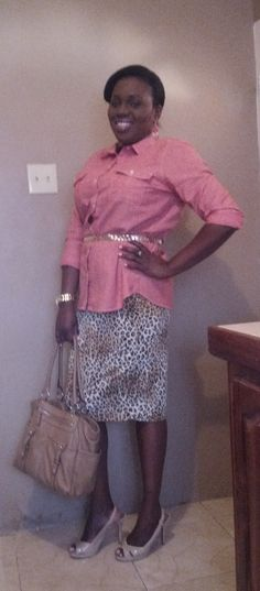 Old navy top, skirt from sale rack I can't remember, Christian Siriano shoes, Tyler Rodan bag, gold belt I've had forever & watch by Michael Kors