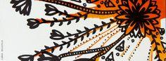 Floral Laranja - Background e Wallpaper criados por Carol Delleteze. Desenhos originais, únicos, feitos a mão disponíveis para download.  #caroldelleteze #background #wallpaper #desenholudico #arte #art #handmade #illustration #pattern #floral #laranja #flower
