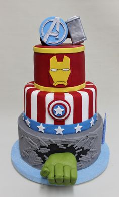 healthy meals for dinner easy meals ideas free Marvel Avengers, Marvel Cake, Avengers Cartoon, Pastel Marvel, Avengers Birthday Cakes, Avenger Cake, Superhero Cake, Cake Gallery, Super Healthy Recipes