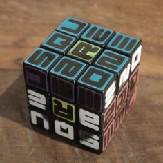 THE RUBIX CUBE...retro radness by thesaucesuppliers.com