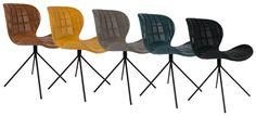 Zuiver OMG LL stoel! Je leest het op http://www.stijlhabitat.nl/de-zuiver-omg-ll-stoel/ Chair, stoel, eetkamerstoel, Zuiver, OMG, leatherlook, leerlook, Flinders, brown, bruin, yellow, geel, grey, grijs, petrolblue, petrolblauw, black, zwart