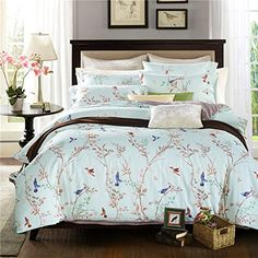 Thefit Paisley Bedding For T152 Bird Duvet Cover Set 100 Cotton Queen King