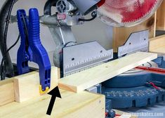 Woodworking Miter Saw Set up a stop for repetitive miter saw cuts - The miter saw is one of the tools we use the most to make DIY furniture projects. Here are 7 miter saw tricks and tips to make the most of your miter saw! Woodworking Projects That Sell, Router Woodworking, Popular Woodworking, Woodworking Shop, Woodworking Apron, Woodworking Hacks, Woodworking Magazine, Woodworking Workshop, Woodworking Techniques