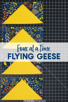 Four At A Time Flying Geese Tutorial - Modernly MorganYou can find Flying geese and more on our website.Four At A Time Flying Geese Tutorial - Modernly Morgan Beginner Quilt Patterns, Quilting For Beginners, Quilt Block Patterns, Sewing Projects For Beginners, Quilting Tips, Quilting Tutorials, Quilting Projects, Quilting Designs, Quilt Blocks