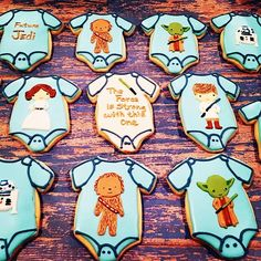 #tbt May the Fourth Be With You #cookiesofinstagram #cookielove #thatsdarling #decoratedcookies #royalicing #starwars #babyboy ##babyshower #maythe4thbewithyou #maytheforcebewithyou #theforceisstrongwiththisone #yoda #chewbacca #princessleia #hansolo #r2d2 #evedeso #eventdesignsource - posted by Crissy Toft https://www.instagram.com/my_cookie_hobby. See more Baby Shower Designs at http://Evedeso.com