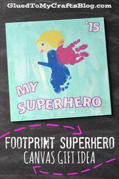 Footprint Superhero - Canvas Gift Idea