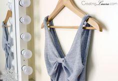 Creating Laura: No-Sew DIY Bow-Back Tank Top