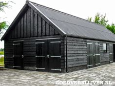 Choice of material - Wooden garage - Wooden Carports, Wooden Garages, Man Cave Shed, Black House Exterior, Farm Shed, Barns Sheds, A Frame House, Tiny House Cabin, Garden Buildings