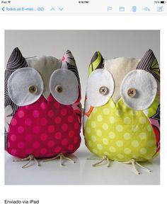 cute owl soft toy stuffed animals  I don't think there's a pattern