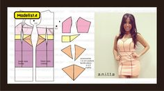 Modelagem de vestido com recortes geométricos da Anitta. Fonte: ModelistA: RECORTES