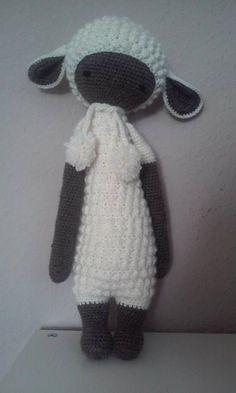 LUPO the lamb made by Eva S. / crochet pattern by lalylala