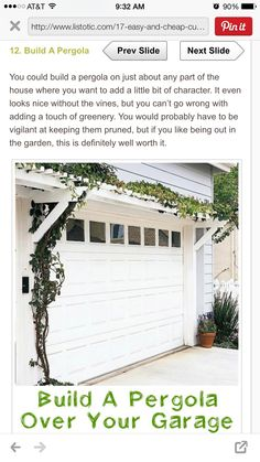 A pergola like this would be beautiful over the western facing add a pergola over your garage 17 impressive curb appeal ideas cheap and easy for the new house culligan culligan culligan culligan boyette adrian solutioingenieria Images