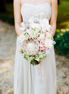 Protea bouquet | Photo by Jen Wojcik Photography | Read more - http://www.100layercake.com/blog/?p=78691