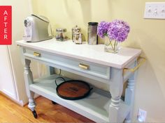 Before & After: Too-Short Table to Chic Coffee Station
