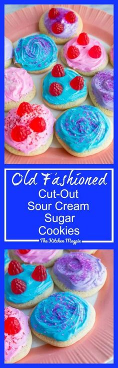 Old Fashioned Cut-Out Sour Cream Sugar Cookies - The Kitchen Magpie Chocolate Marshmallow Cookies, Chocolate Chip Shortbread Cookies, Toffee Cookies, Spice Cookies, Ginger Cookies, Cut Out Cookies, Chip Cookie Recipe, Sugar Cookies Recipe, Yummy Cookies
